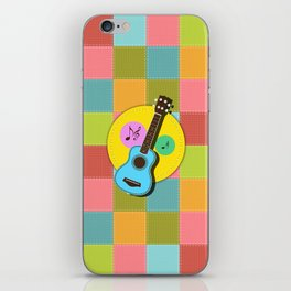Fun colorful Ukuele and music notes iPhone Skin