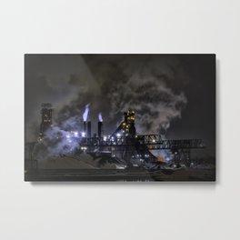 Steel Mill Cleveland, Ohio Industrial Metal Print