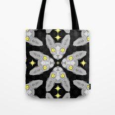 Sphynx Cat Black Pattern Tote Bag