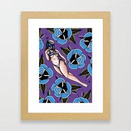 Jango in Flowers  Framed Art Print
