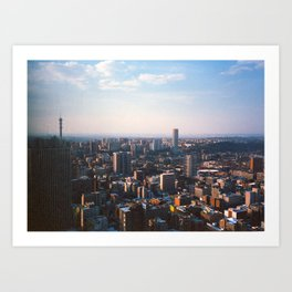 Top of Johannesburg Art Print