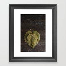 I heart leaves Framed Art Print