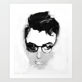Cary with glasses Art Print