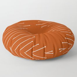 Terracotta geometric pattern Floor Pillow