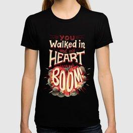 Heart went boom T-shirt