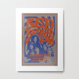 Fullsize A1 Led Zep-pelin Concert Poster, Led Zep-pelin Poster, Led Zep-pelin Art, Led Zep-pelin Wall Art, Whisky A Go Go, Stairway to Heaven Metal Print