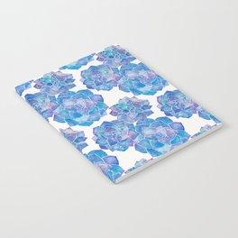 Rosette Succulents – Blue Palette Notebook