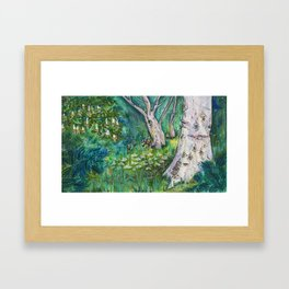 pastel forest Framed Art Print
