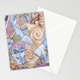 Blue Man & Dead Head Stationery Cards