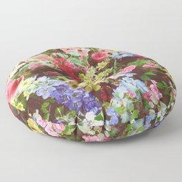 Floral Explosion Floor Pillow