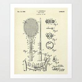 Tennis Racket-1948 Art Print