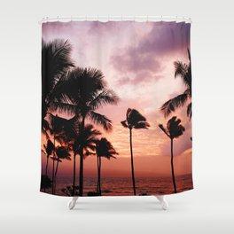 Palm Tree Sunset Shower Curtain
