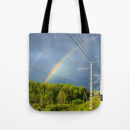 The railway into the dream Tote Bag
