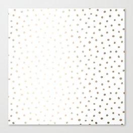 Golden Polka Dots Canvas Print