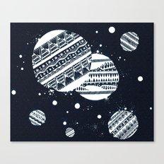 Pattern Doodle One (Invert) Canvas Print