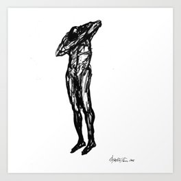 Boceto gestual 8 Art Print