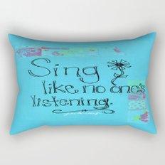 Sing Rectangular Pillow