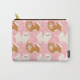 Cute Pomeranian Pattern Carry-All Pouch