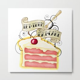 Let Them Eat Cake Vintage Tattoo Style Metal Print