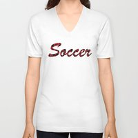 soccer V-neck T-shirts featuring Soccer by joanfriends