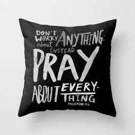 Pray II Throw Pillow