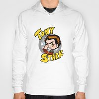 tony stark Hoodies featuring Avengers - Chibi Tony Stark by feriowind