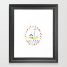 Baby sailor Framed Art Print