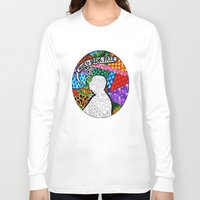 hitchcock Long Sleeve T-shirts featuring Psychedelic  Hitchcock by Sara Catalina