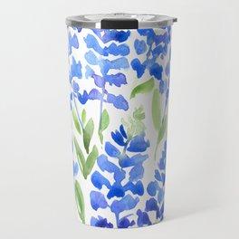 Watercolor Texas bluebonnets Travel Mug