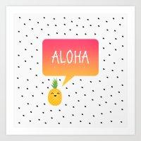 aloha Art Prints featuring Aloha by Elisabeth Fredriksson