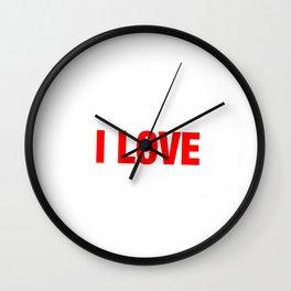 Standing Gross Motor Movements Gymnastics Running I Love Front Lever Calisthenics Gift Wall Clock