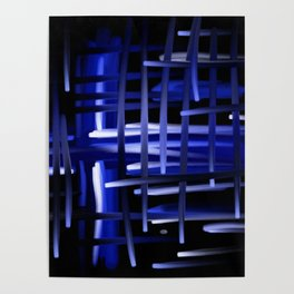 Blue Cosmos Abstract Poster