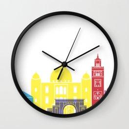 Marrakesh skyline pop Wall Clock