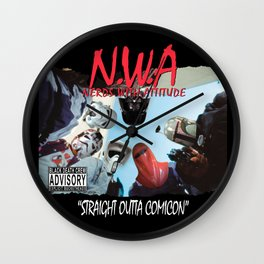 N.W.A (Nerds With Attitude) Straight Outta Comicon Wall Clock