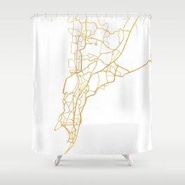 MUMBAI INDIA CITY STREET MAP ART Shower Curtain