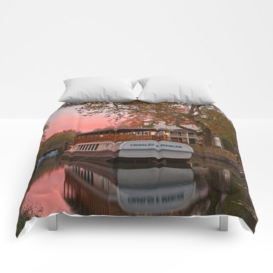 Autumn Twilight Canal Comforters