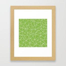 Ab Outline Greeny Framed Art Print