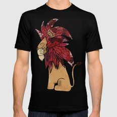 Lion 2 Mens Fitted Tee SMALL Black