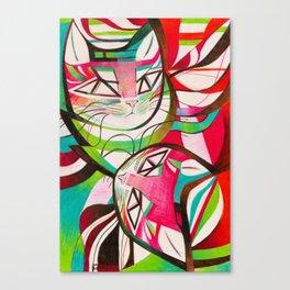 Cat Interplay 3 Canvas Print