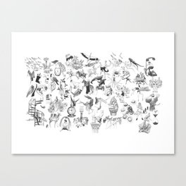 Ink Thougts Canvas Print