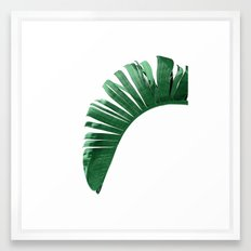 TROPICAL • BANANA LEAF Framed Art Print