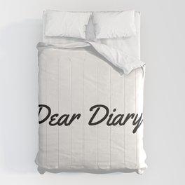 Dear Diary Comforters
