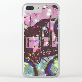 Space Trucking Clear iPhone Case