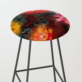 Bouquet Abstraction Series  Bar Stool