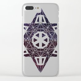 Metatron's Cube Time Wheel ~ Starry Night 2 Clear iPhone Case