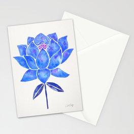 Sacred Lotus – Blue Blossom Stationery Cards