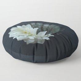Simple White Dahlia  Floor Pillow