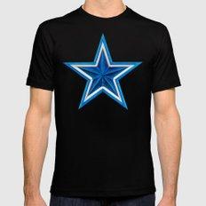Blue Star MEDIUM Black Mens Fitted Tee