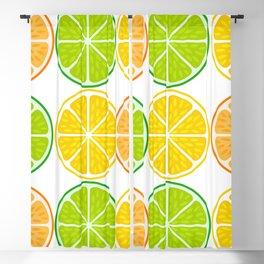 Citrus fruit slices Blackout Curtain