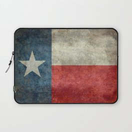 Texas state flag, vintage banner Laptop Sleeve